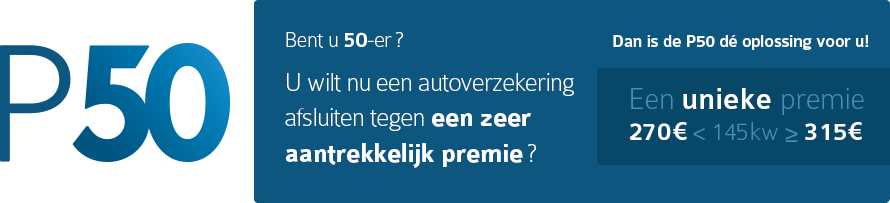 P50-De autoverzekering voor bestuurders van 50 tot 59 jaar