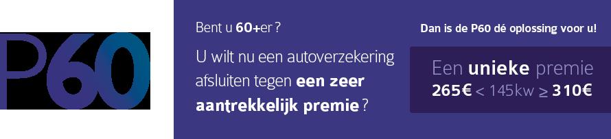 P60-De autoverzekering voor bestuurders vanaf 60 jaar